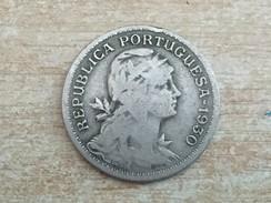 1930 Portugal Portuguesa 50 Centavos Coin, Scarce Date - Fine Circulated - Portugal