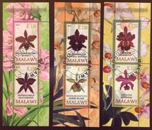Malawi 2010 Orchids Flowers Minisheets Precancel - Orchideen