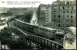 Paris : Vue Générale Du Métropolitain Bd Grenelle Vers Passy (15ème) - Métro Parisien, Gares