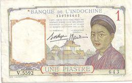 Indochine 1 Piastre (voir Signatures) - Indochina