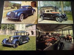 CPSM LE BEC HELLOUIN Lot De 4 Cartes Automobiles De L'ancien Musée Bugatti Rolls Royce Coupé Chapron - France