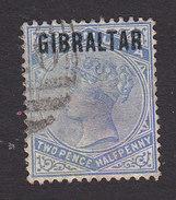 Gibraltar, Scott #4, Used, Victoria Overprinted, Issued 1886 - Gibraltar