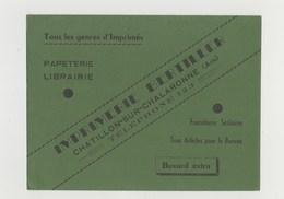 BUVARD IMPRIMERIE BERTILLER CHATILLON SUR CHALARONNE (Ain) - Stationeries (flat Articles)
