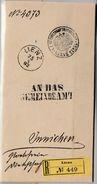 Österreich/Tirol - Lienz 1892, K1 A. Einschreibe-Dienstbrief N. Innichen - Briefe U. Dokumente