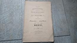Partition Ancienne Ouverture Du Jeune Henri De Méhul Piano Seul Musique - Partitions Musicales Anciennes
