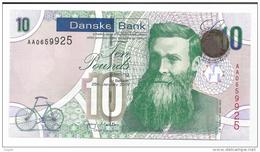 IRELAND NORTHERN 10 POUNDS P NEW DANSKE BANK UNC - [ 2] Ireland-Northern