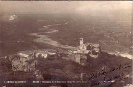 ASSISI-PERUGIA-UMBRIA ILLUSTRATA- EDIZIONI TILLI-PANORAMA-CARTOLINA VERA FOTOGRAFIA -DATATA 14-8-1922 - Perugia
