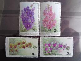 THAILLANDE Y&T  N° 1157 à 1160  **  - FLEURS DIVERSES - Thailand