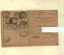 France Seul Sur Lettre Pa N° 19 Sur Carte D'abonnement Au Timbres Poste, Oblitére De Marseille - 1927-1959 Cartas