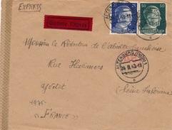 Lettre Express Altenburg Censure WWII - Allemagne