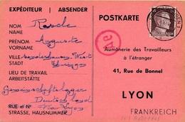 Carte Sondershausen Censure WWII - Allemagne
