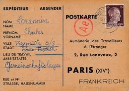 Carte Trzynietz Censure WWII - Deutschland