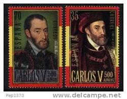 ESPAÑA 2000 - 500 AÑOS DEL NACIMIENTO DE CARLOS V - Edifil Nº 3697-3698 - Yvert Nº 3264-3265 - 1931-Hoy: 2ª República - ... Juan Carlos I