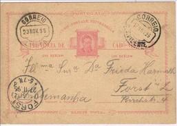Cabo Verde, 1896, Bilhete Pstal S. Vicente-Alemanha - Kapverdische Inseln