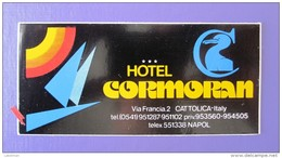 HOTEL ALBERGO PENSIONE NO NAME CORMORAN CATTOLICA ITALIA ITALY STICKER DECAL LUGGAGE LABEL ETIQUETTE AUFKLEBER - Hotel Labels