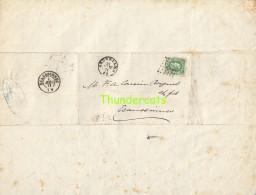 LETTRE DE 1871 LEOPOLD II 30 OP BRIEF BRUXELLES ECAUSSINNES DELLOYE TIBERGHIEN - 1869-1883 Leopold II