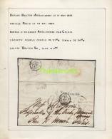LETTER 1852 BRUTON UNITED KINGDOM PARIS FRANCE PAR CALAIS - Marcophilie