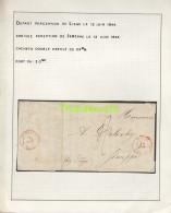 LETTRE DE 1844 LIEGE JEMEPPE DELEXHY BRIEF - 1830-1849 (Belgique Indépendante)