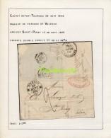LETTRE DE 1845 FRANCE TOURNON VALENCE SAINT PERAY RICHARD BANQUIERS LECUYER - 1801-1848: Vorläufer XIX