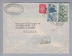 Portugal 1945-08-17 S.Bento Luftpostbrief Nach Villeret CH - 1910-... République