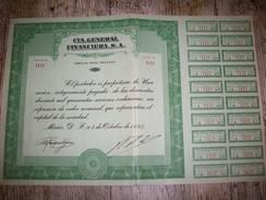 Action ( CIA . Général Financiera , S . A . ) - Banque & Assurance