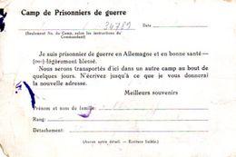 Avis De Capture Pour Prisonnier De Guerre 1939/45 Stalag IB HOHENSTEIN (Königsberg) + Censure Vers WALLERS (Nord) - Marcophilie (Lettres)