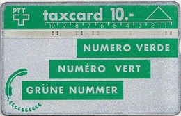 Switzerland - Swisscom - L&G PTT Series 8-9 - Dark Green - P07B - 1991 - 109C - 30.000ex, Used - Suiza
