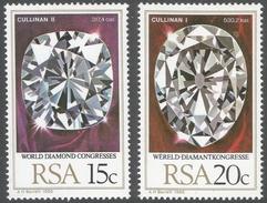 South Africa. 1980 World Diamond Congress, Johannesburg. MNH Complete Set SG 477-8 - South Africa (1961-...)