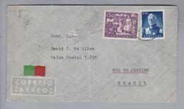 Portugal 1948-03-29 Espinho Brief Nach Rio De Janeiro - 1910-... République