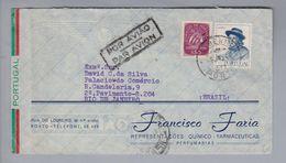 Portugal 1943-01-09 S.Bento Brief Nach Rio De Janeiro - 1910-... République