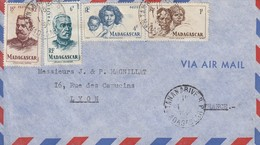 LETTRE MADAGASCAR. 1.2.52.  TANANARIVE POUR LA FRANCE - Madagascar (1960-...)