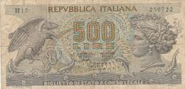 ITALIA LIRE 500 - VF- (28A - [ 2] 1946-… : Repubblica