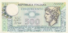 ITALIA LIRE 500 - XF- (31A - [ 2] 1946-… : République