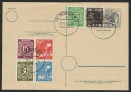 """""""10fach Frankatur"""", MiF GS/Briefmarken, """"München"""", 21.6.48, Blanko, Mi-Nr P962 - Gemeinschaftsausgaben"""