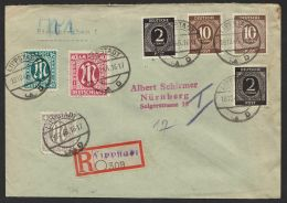 """Dek. MiF Auf R-Brief """"Lippstadt"""", 19.10.46, Mi-Nr. 25,30 U.a. - Bizone"""
