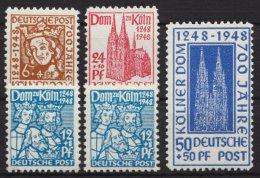 """""""Kölner Dom"""", Komplett, MiNr 70, 2 Versch. Varianten, Mi-N. 69/72, ** - Bizone"""