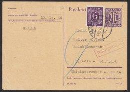 "Bedarf ""Oberstdorf"", 23.11.46, Zusatzfrankatur Mit Nachgebühr, Mi-Nr. P903I/01, O - Bizone"