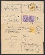 """3 Bedarfskarten Mit Versch. Zusatzfr. """"AM""""- Post, Mi-Nr. P671, O - Bizone"""