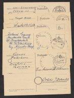 5 Bedarfskarten, Versch. Dienstsiegel, Auch Kleine Orte, Mi-Nr. P71, O - Bizone