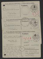 3 Bedarfskarten Aus Einer Korrespondenz Juli/August 1945 Alle Links Registraturlochung, Mi-Nr. P675, O - Bizone