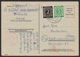 """Bedarf Mit Zusatzfr. , 4.8.46. Landpost, """"Heessel, Niederelbe"""", Mi-Nr. P694b, O - Bizone"""