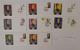LOTTO 8 BUSTE MONDIALI CALCIO 2002 ANNULLI SPECIALI GIAPPONE COREA (359B - Coppa Del Mondo