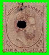 ESPAÑA SELLO DEL REINADO DE  AMADEO I   AÑO  1872 -  1.Pta. - 1872-73 Reino: Amadeo I
