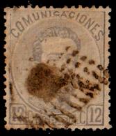 ESPAÑA SELLO DEL REINADO DE  AMADEO I   AÑO  1872 -  12  Ctms - 1872-73 Reino: Amadeo I
