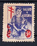 COLOMBIA 1948. SALUD Y ALEGRIA. LIGA ANTITUBERCULOSA . 5 CMS. NUEVO SIN GOMA   Ceci 2 Nº 152 - Enfermedades