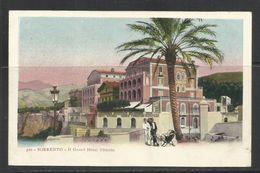 ITALIA SORRENTO ITALY IL GRAND HOTEL VITTORIA CARTOLINA CARD NUOVA UNUSED - Hotels & Restaurants