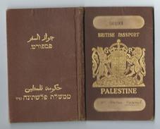 JUDAICA BRITISH PALESTINE PASSPORT VISAS CONSULAR STAMPS 1934 - 1941 - Historische Documenten