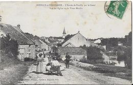 POUILLY SUR VINGEANNE L' Entrée Du Pays Par Le Canal.Vue De L' Eglise Et Du Vieux Moulin - Francia