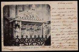 LE TOMBEAU DE St - HUBERT - SAINT HUBERT --- Pas Courant - Expédiée 1900 - Saint-Hubert