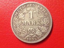 Münze 1 Mark Großer Adler 1892 E Kaiserreich Jaeger 17 - [ 2] 1871-1918 : Empire Allemand